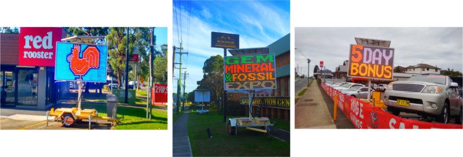 LED Moblile Billboard Signs Delivered FREE in Sydney
